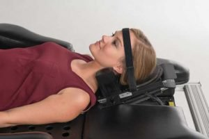 Patient shown having IDD Therapy for  neck pain or cervical pain