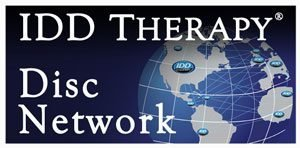 IDD Therapy Disc Network Logo Globe with interconnected Logos on Countries